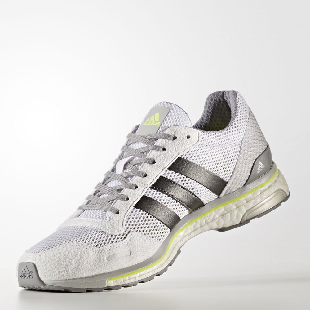reputable site d4501 955fb Adidas-Adizero-Adios-Mens-Grey-Running-Road-Sports-