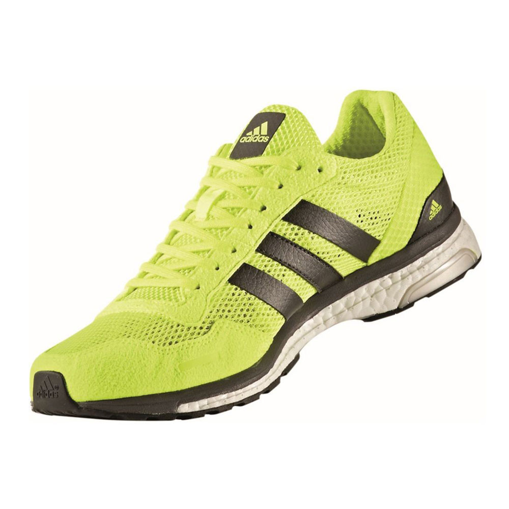 Adidas Adizero Adios Mens Green Sneakers Running Road