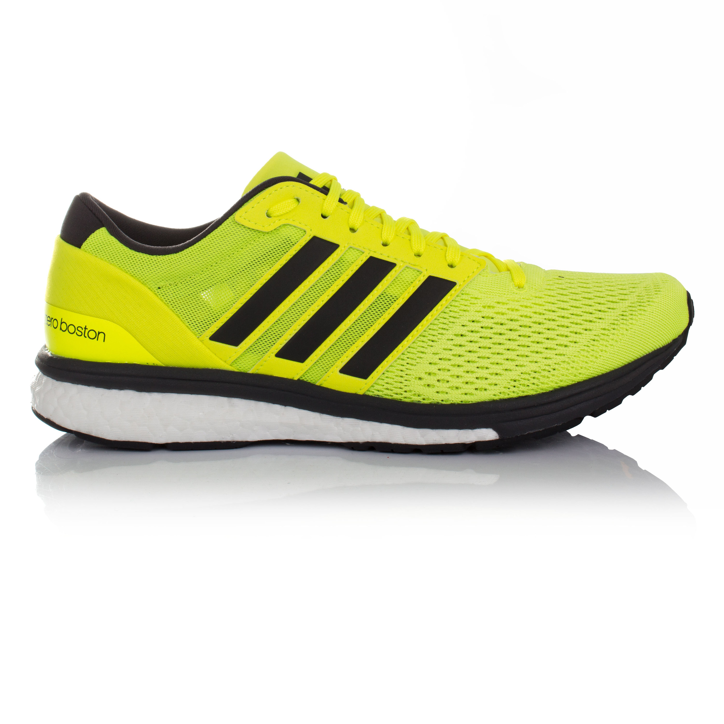Adidas Adizero Boston 6 Mens Yellow Running Sports Shoes