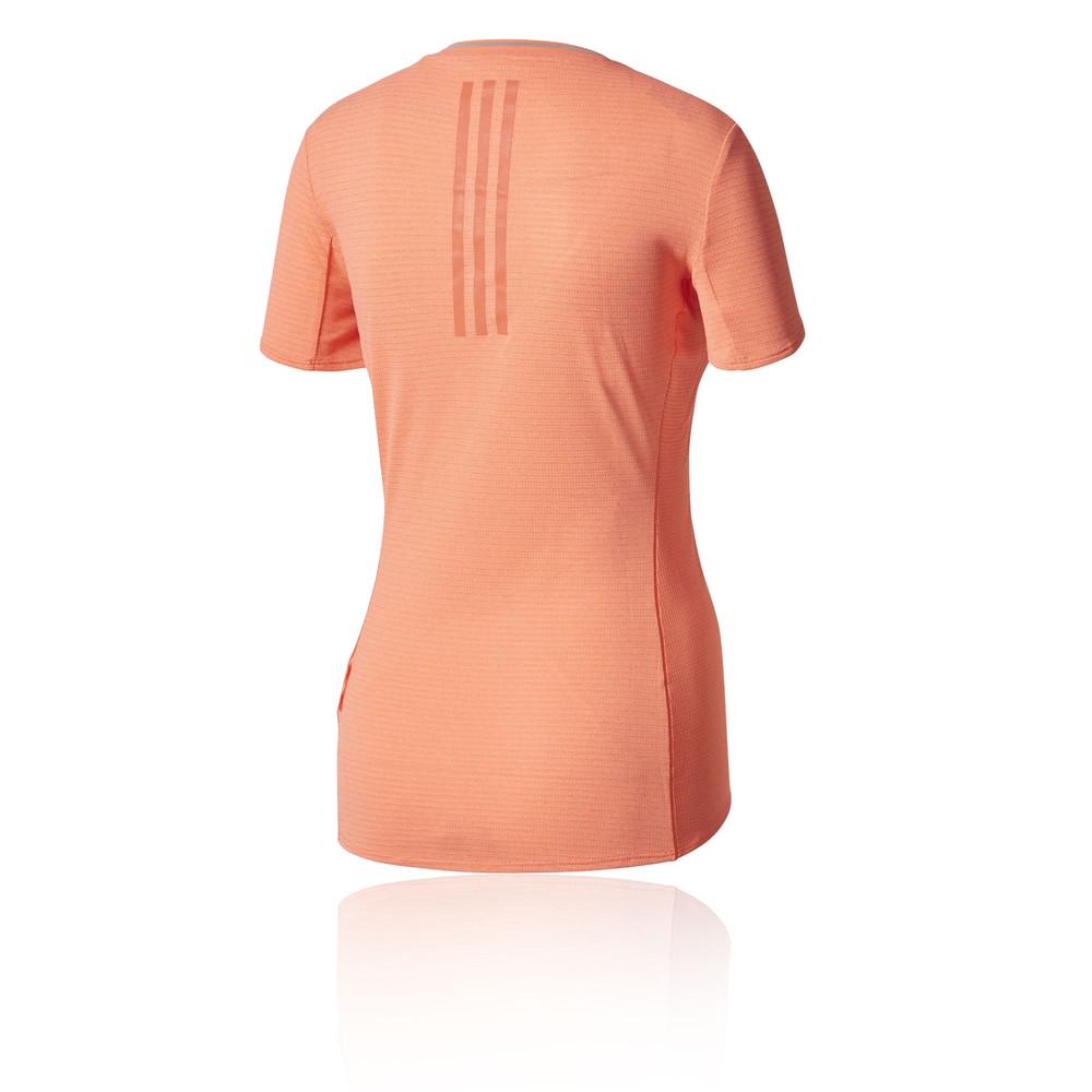 Details about Adidas Supernova Womens Orange Short Sleeve Crew Neck Running  T Shirt Tee 6abd40b35