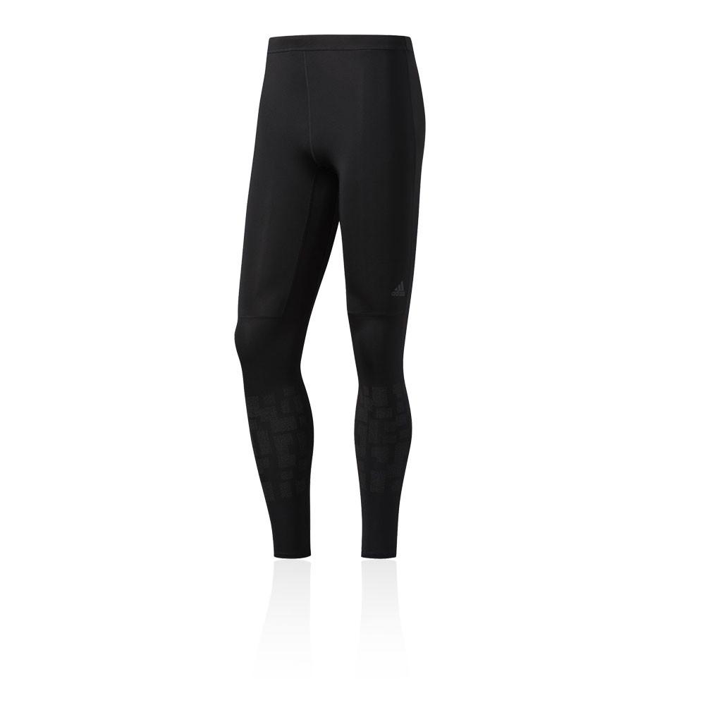 Détails sur Adidas Hommes Noir Supernova Collant Long De Running Leggings Poche Zippée