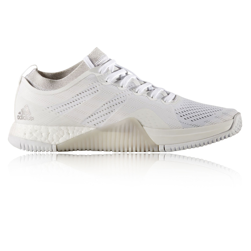 on sale bdf74 d973b Details about Adidas CrazyTrain Elite Womens White Training Sports Shoes  Trainers Pumps