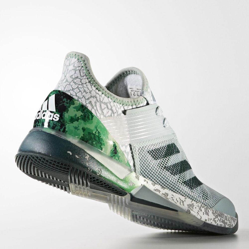 brand new 7ef7a 608ad ... adidas adizero ubersonic 3.0 jade womens tennis shoes ss18