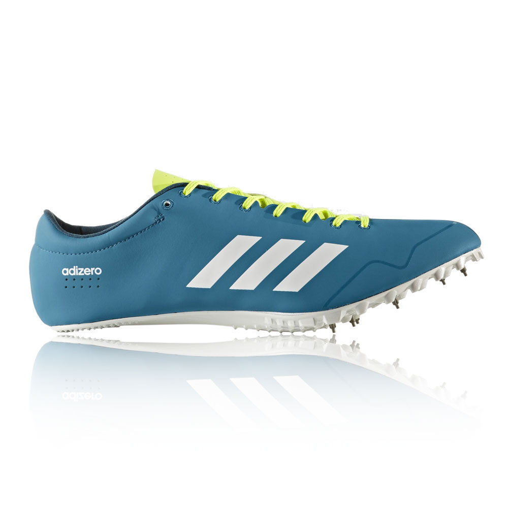 4b26d811e7c2 Adidas Adizero Prime SP Mens Blue Athletic Running Spikes Shoes Trainers