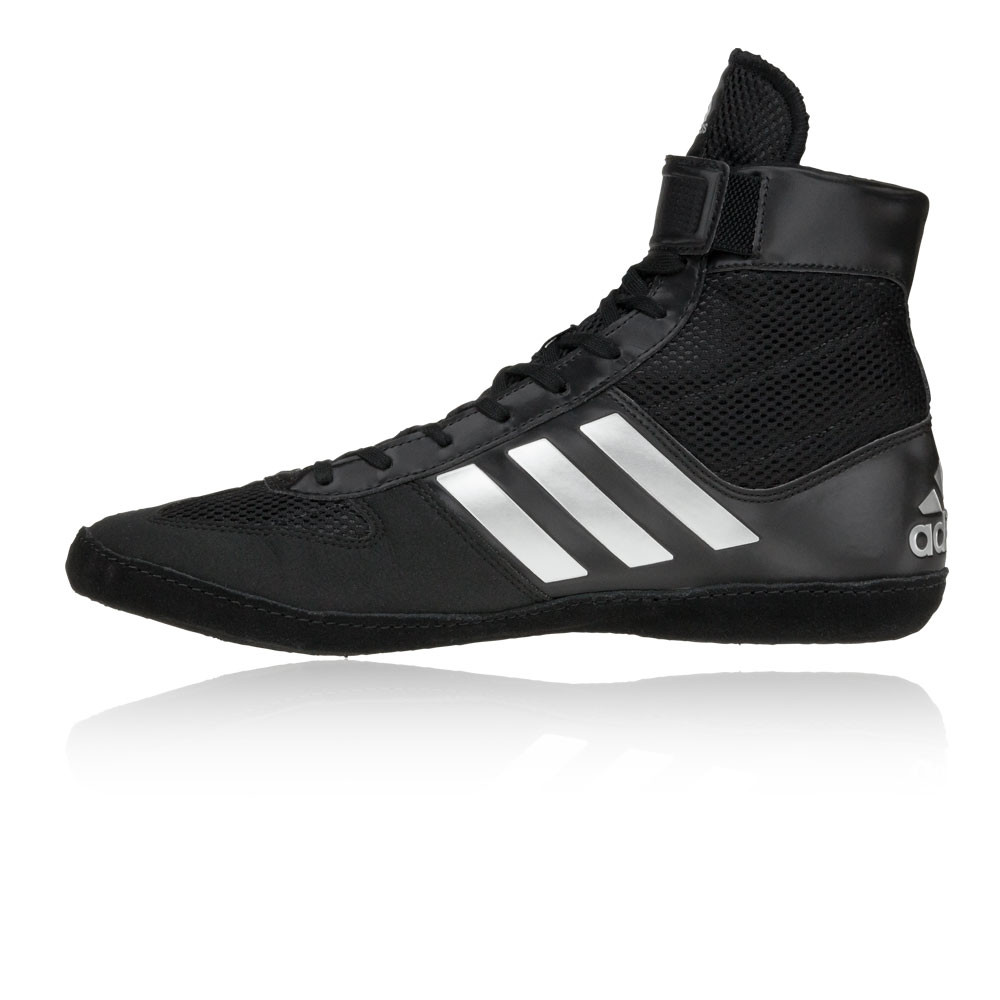 finest selection afc58 956fd Adidas Combat Speed 5 Mens Black Wrestling Shoes Lace Up Boots