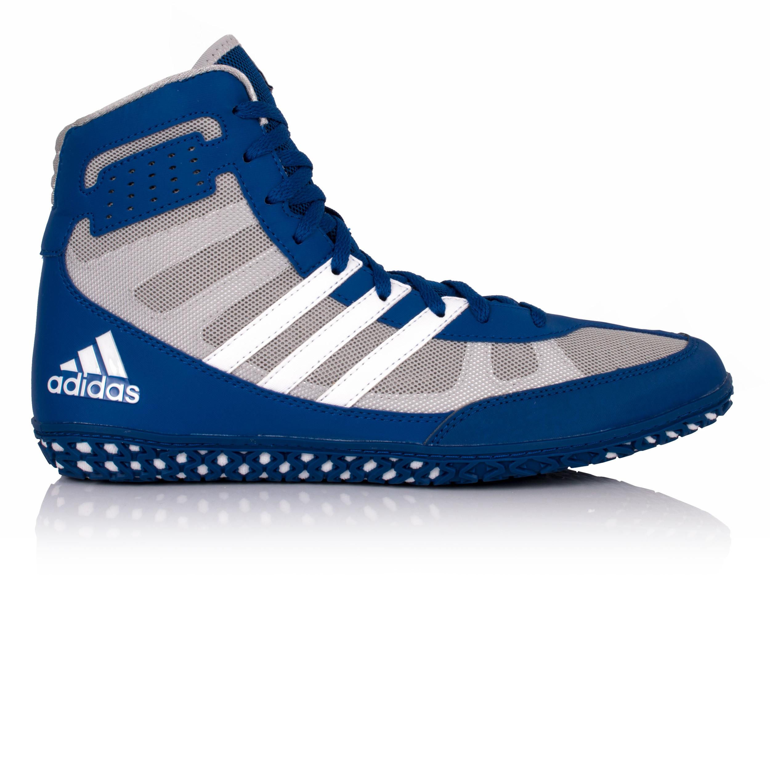 Adidas Herren Blau Grau Mat Wizard 3 Ringerstiefel Ringerschuhe Boxschuhe Schuhe