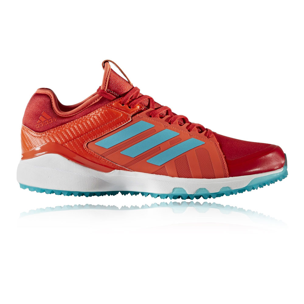 meet 080b2 679b9 Details about Adidas Lux Red Aqua Mens Red Blue Hockey Court Sports Shoes  Trainers Pumps