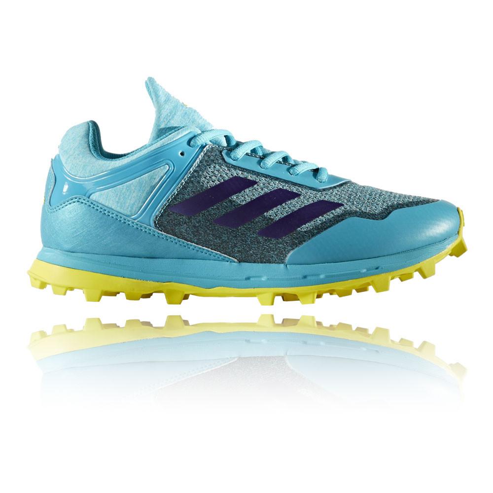 La imagen se está cargando Adidas-Mujer-Azul-Fabela-Zone-Hockey-Zapatos- Zapatillas-