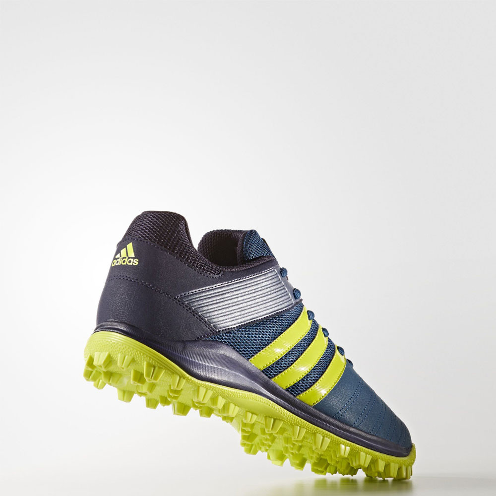 Adidas Srs  M Blue Yellow Hockey Shoes