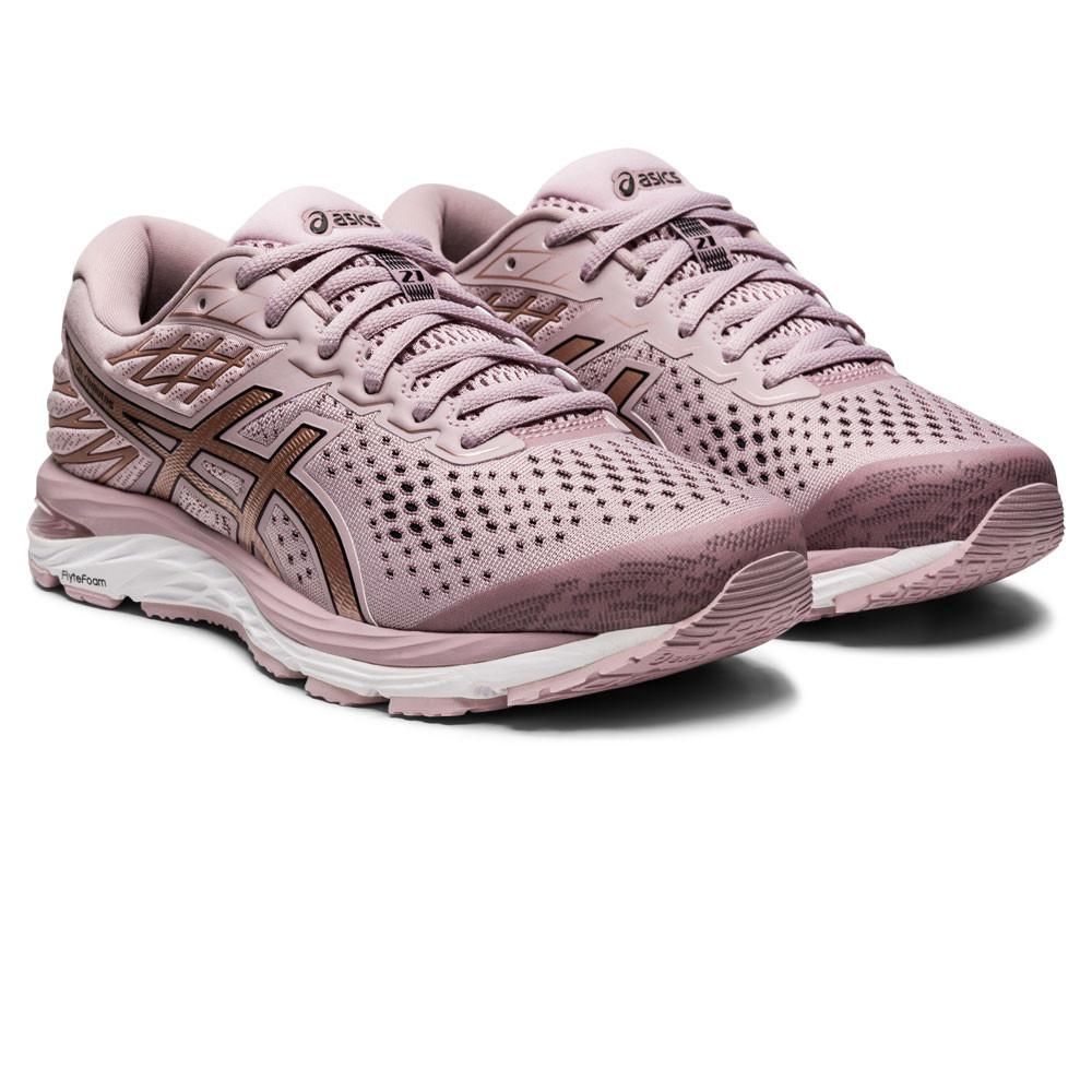 Detalles de Asics Mujer Gel-Cumulus 21 Correr Zapatos Zapatillas - Rosa  Deporte