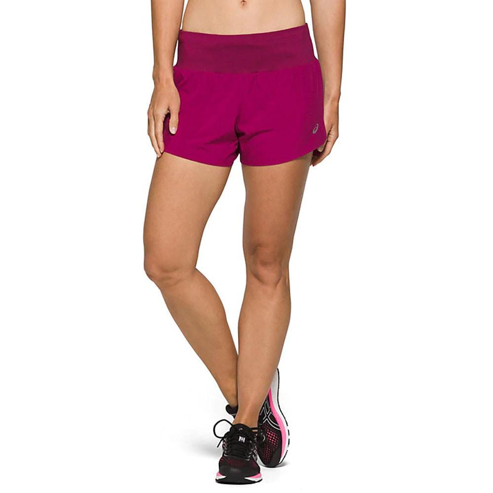 """Haut Femme Asics 1 en 2-5.5/"""" Shorts De Course Pantalon Pantalon noir sport"""
