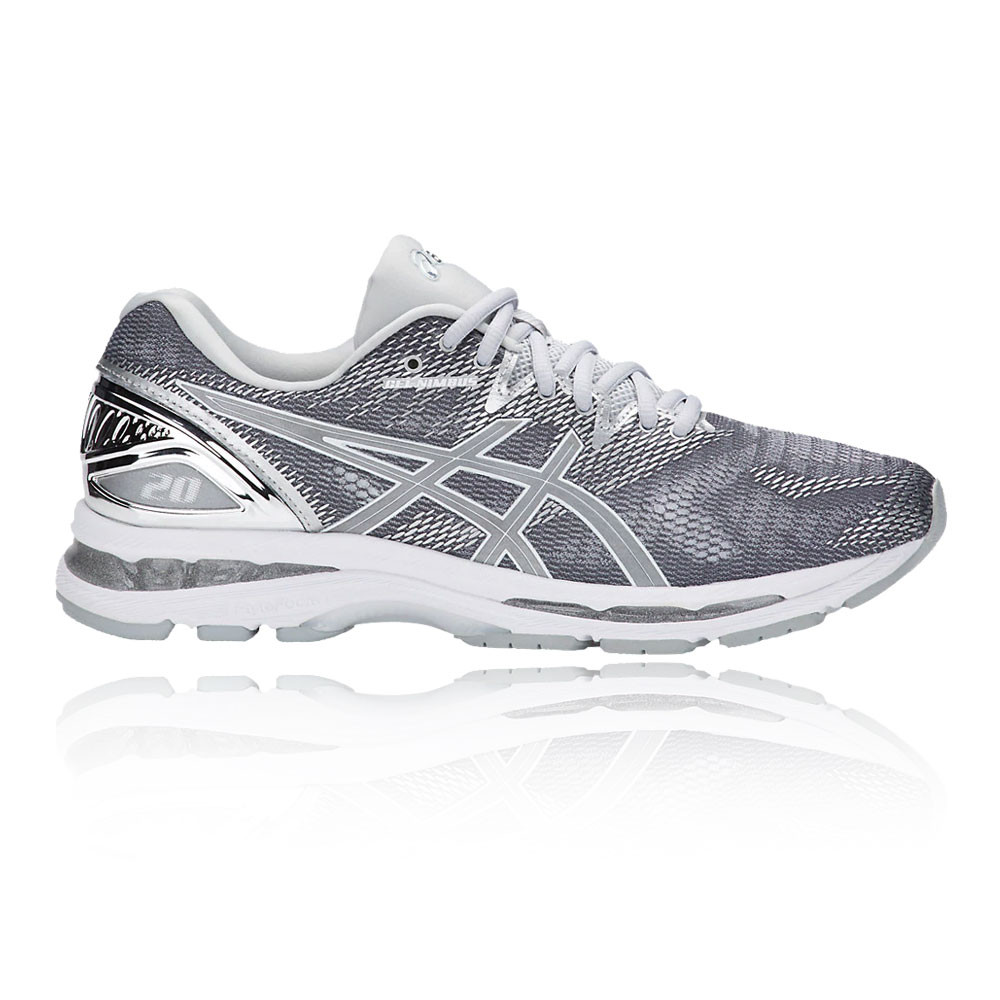 asics gel nimbus womens walking shoes grey