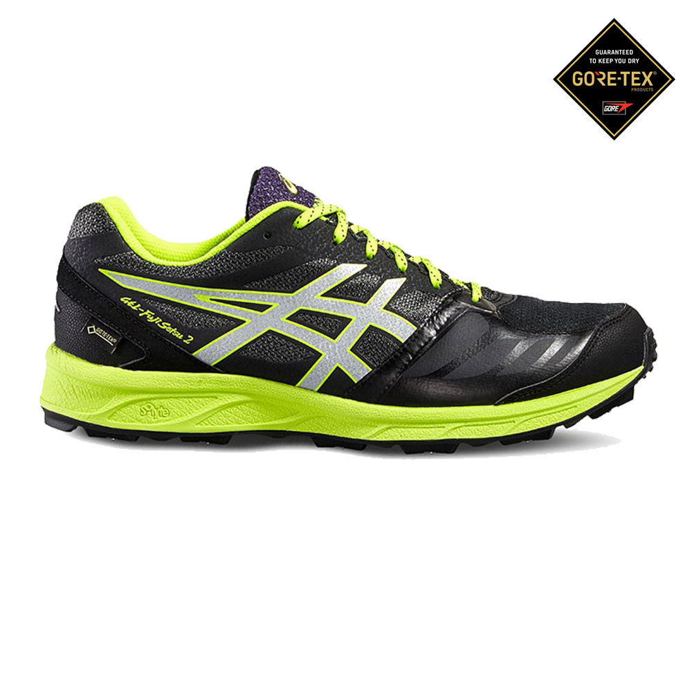 Details zu Asics Mens Gel Fujisetsu 2 GORE TEX Trail Running Shoes Trainers Sneakers Black