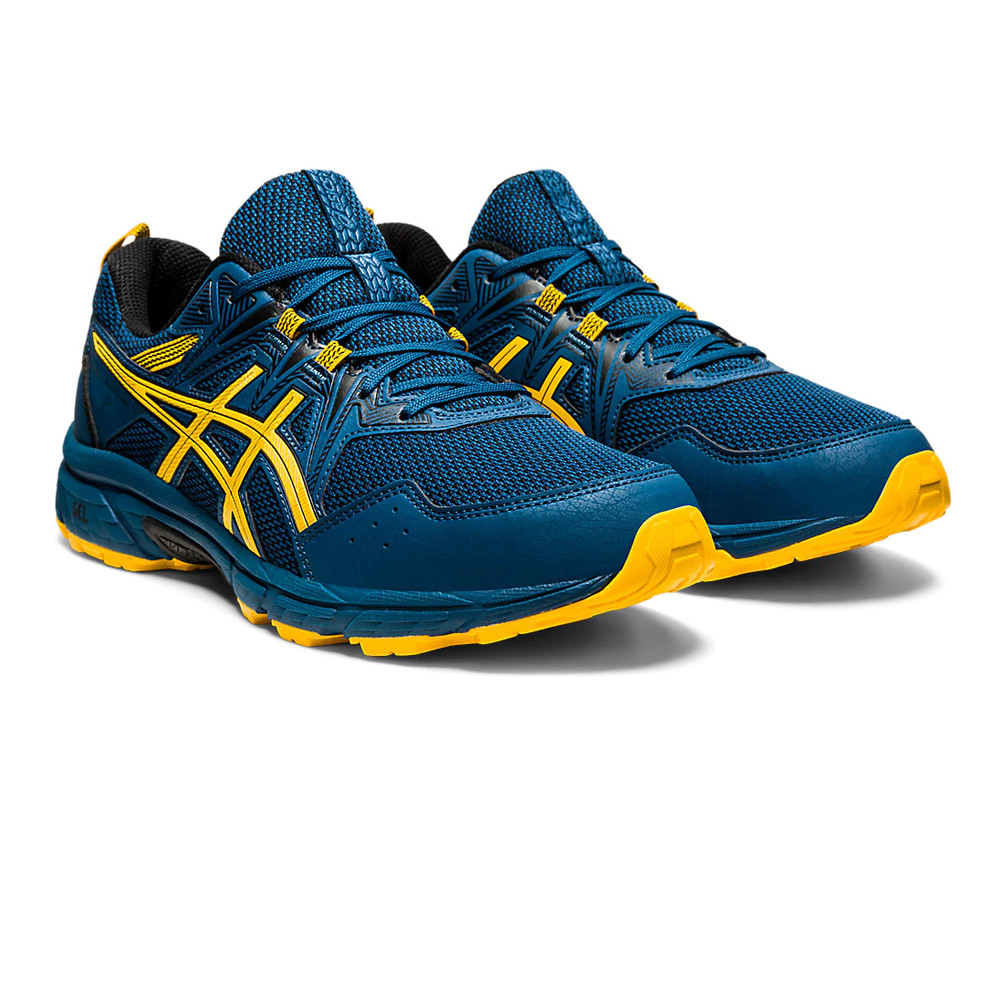 Apto En la madrugada Promesa  Asics Mens Gel-Venture 8 Trail Running Shoes Trainers Sneakers Blue Yellow  | eBay