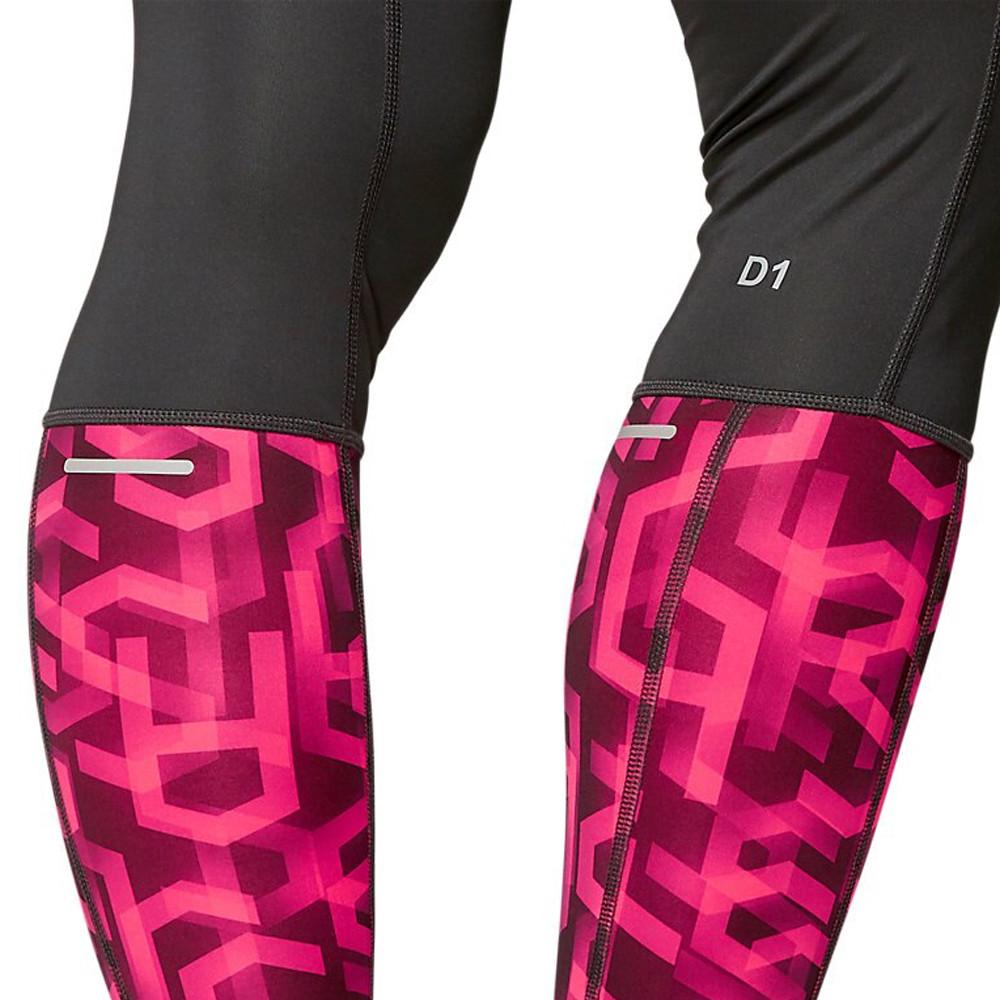 Asics Womens High Waist Running Tights Bottoms Pants Trousers Black Sports