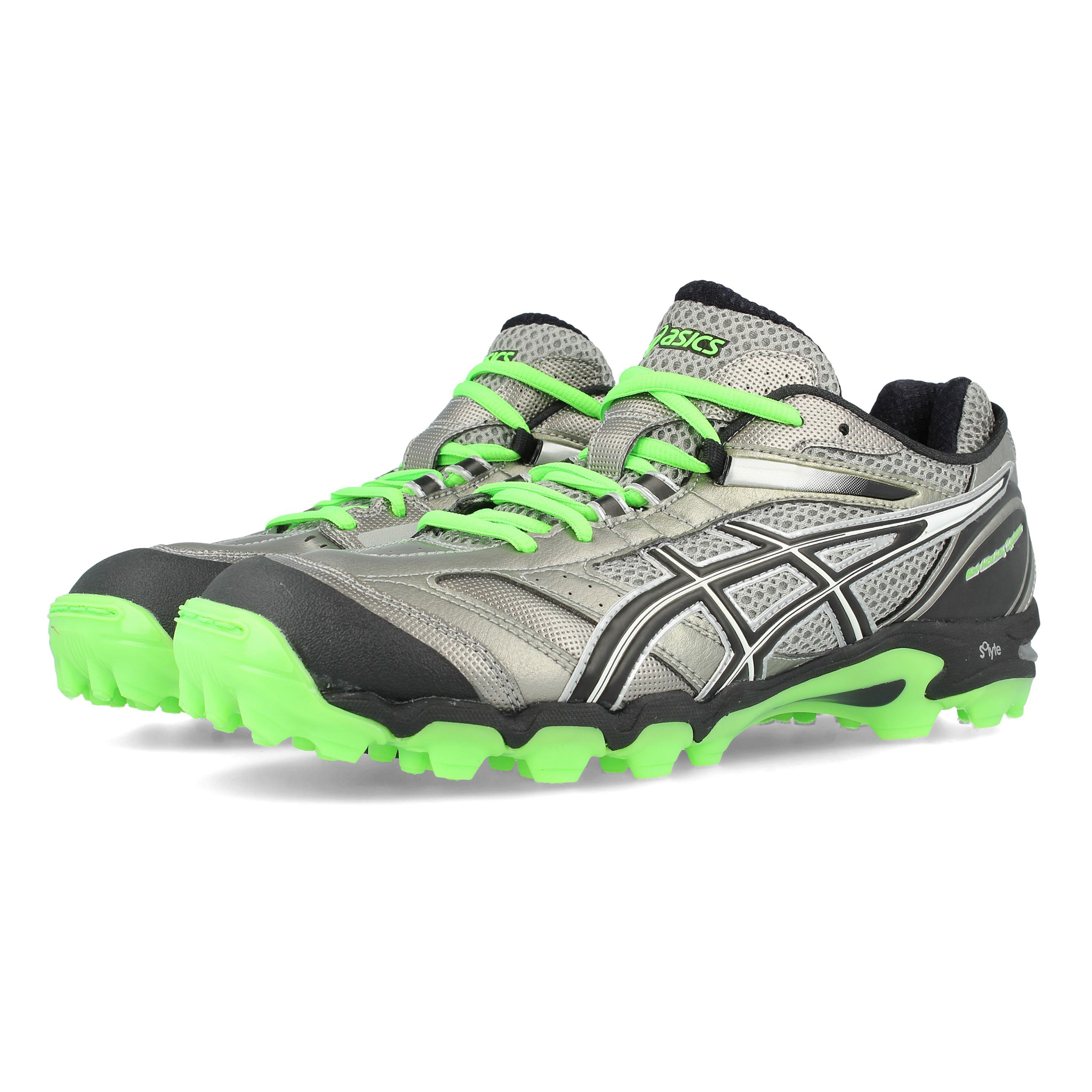 huge selection of 62944 9c3f1 Details about Asics Mens Gel-Hockey Typhoon Hockey Shoes Pitch Field Silver  Sports Trainers