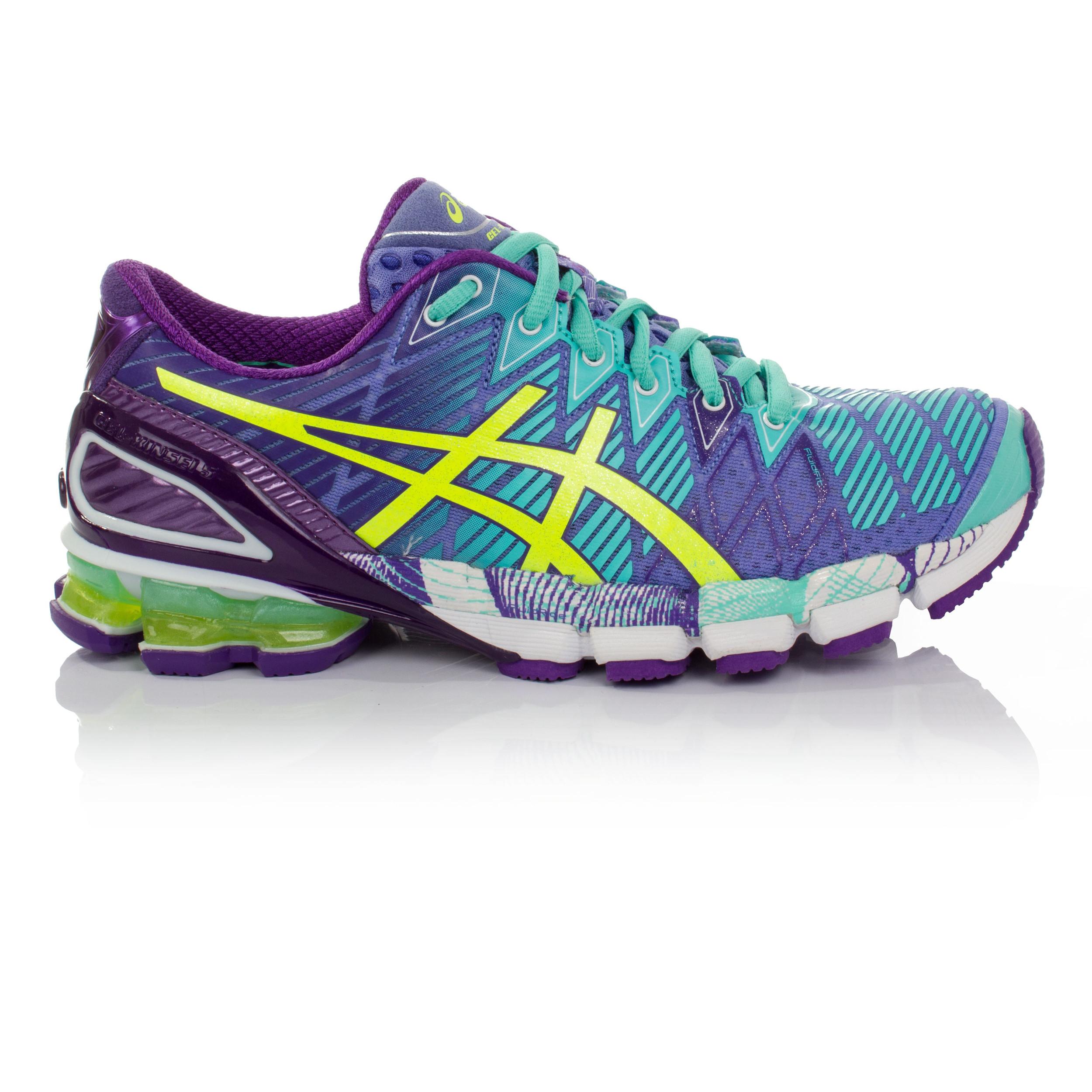 ASICS Gel Kinsei 5 da Donna Verde Viola Imbottite Corsa Scarpe da ginnastica scarpe sportive