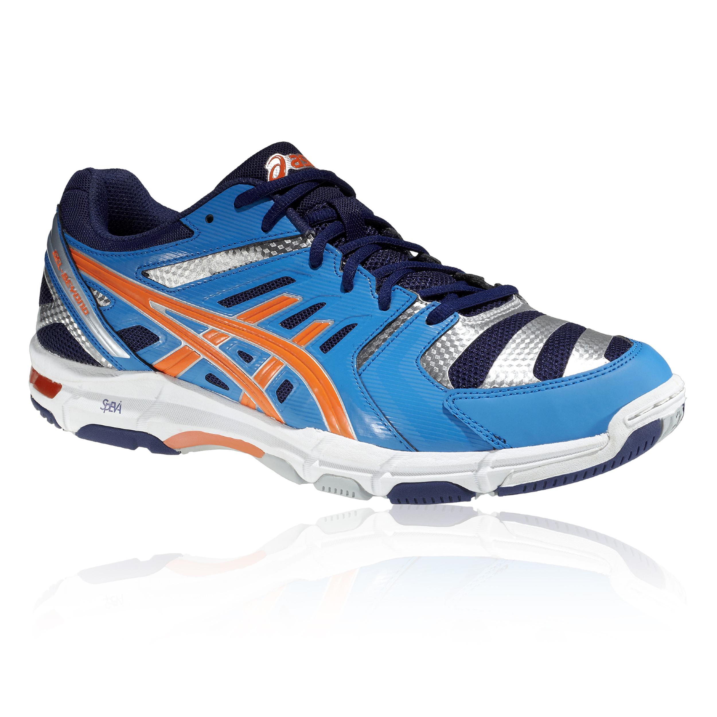 Asics Mens GEL-BEYOND 4 MT Indoor Court Shoes Blue Sports Breathable Lightweight