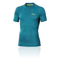 ASICS FUJI Half Zip Short Sleeve Running Top