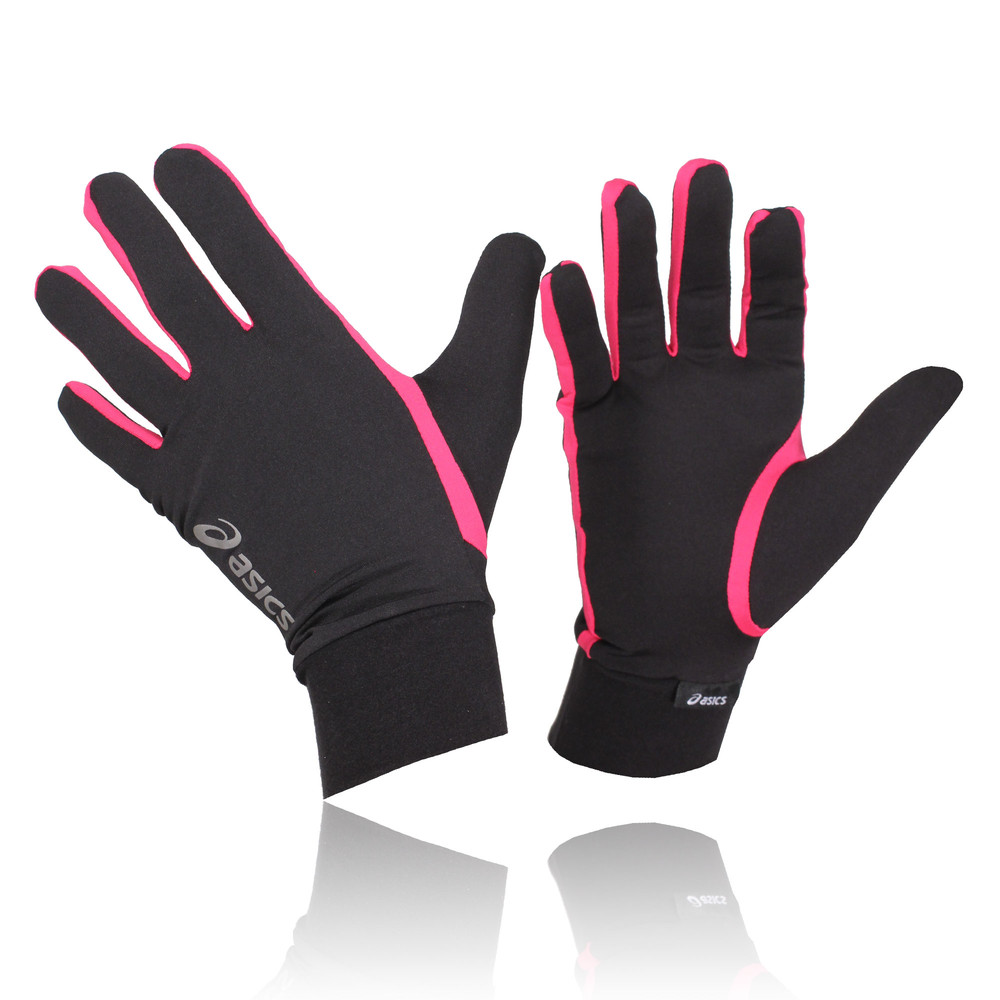 Details about Asics Men Women Black Pink Breathable Lightweight Running  Training Basic Gloves c447cb235e96
