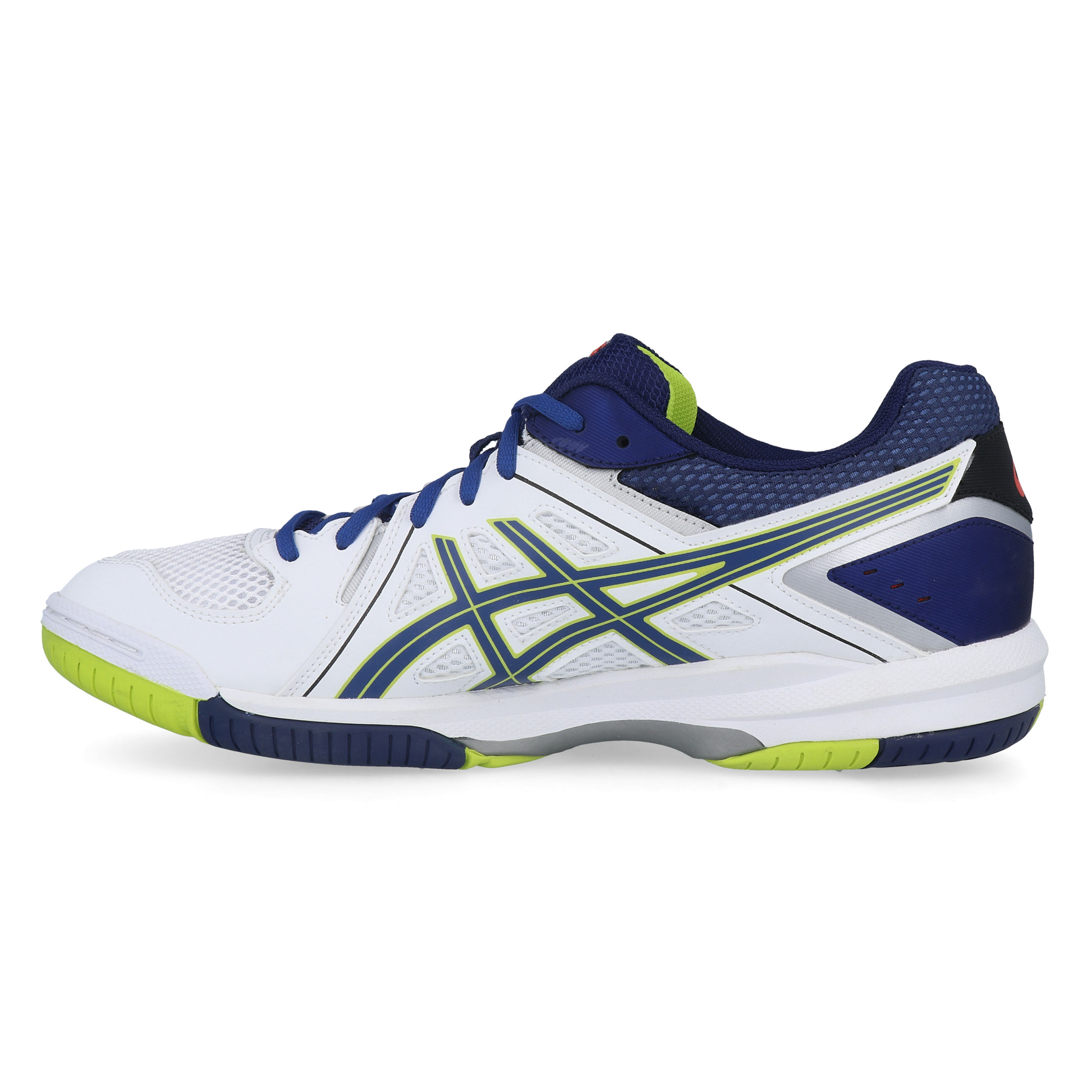 Asics Mens Gel-Task Indoor Court Shoes Blue White Yellow Sports Badminton Squash