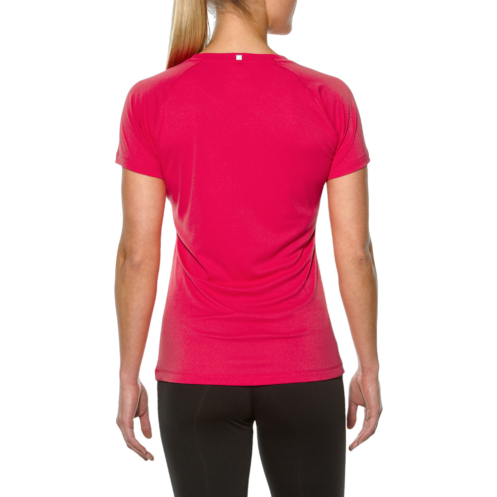 Asics stripe women 39 s running t shirt ss16 for Women s running shirts