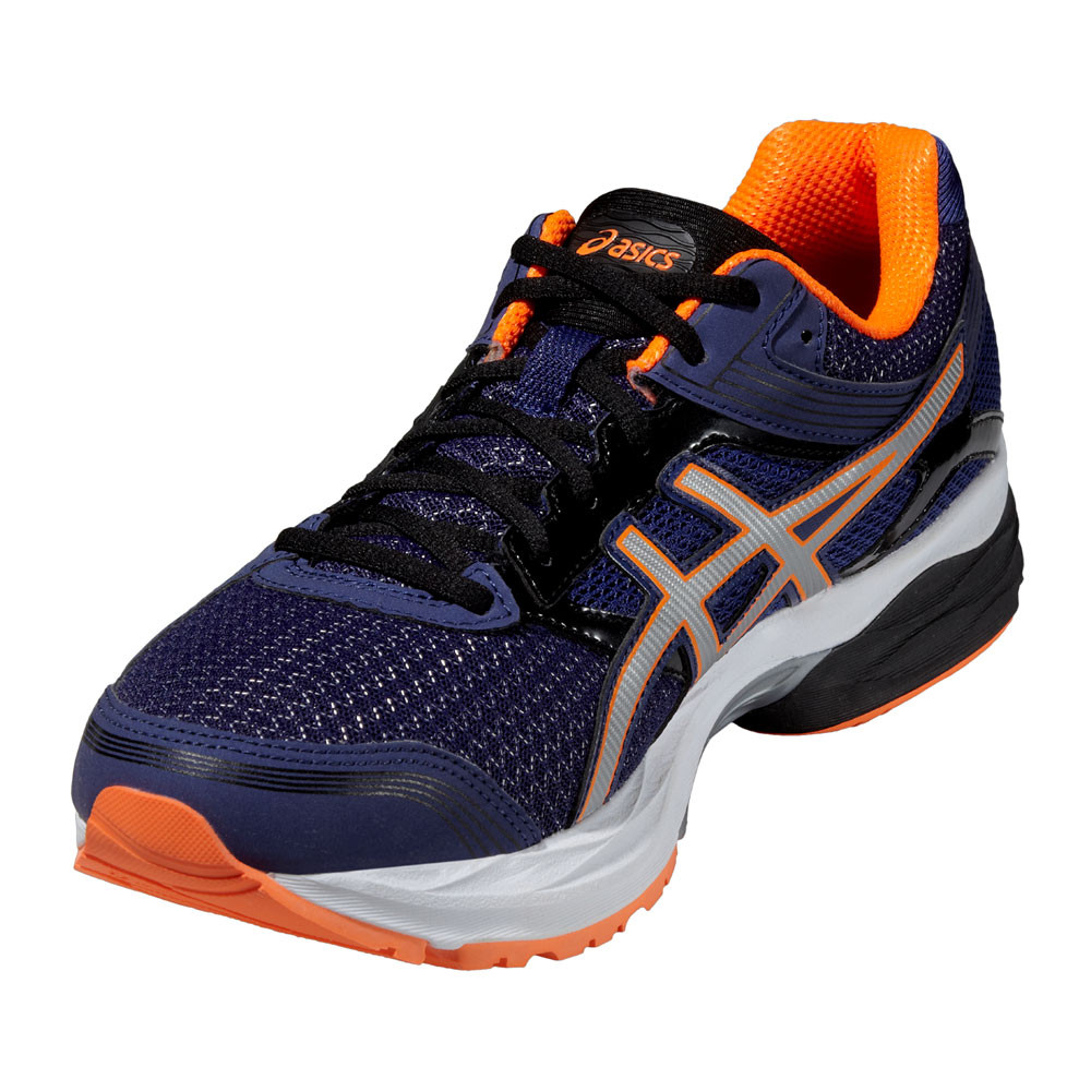 ce79427e7e2b ASICS Gel-Pulse 7 Mens Orange Purple Cushioned Running Sports Shoes Trainers