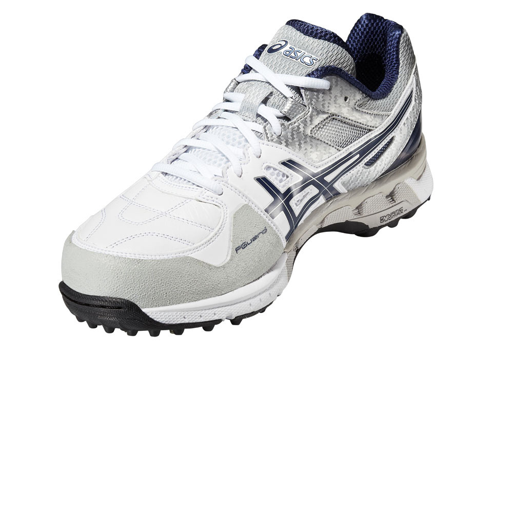 Asics 220 Not Out Sur Gel Chaussures de Cricket pour Homme, Blanc, 41.5
