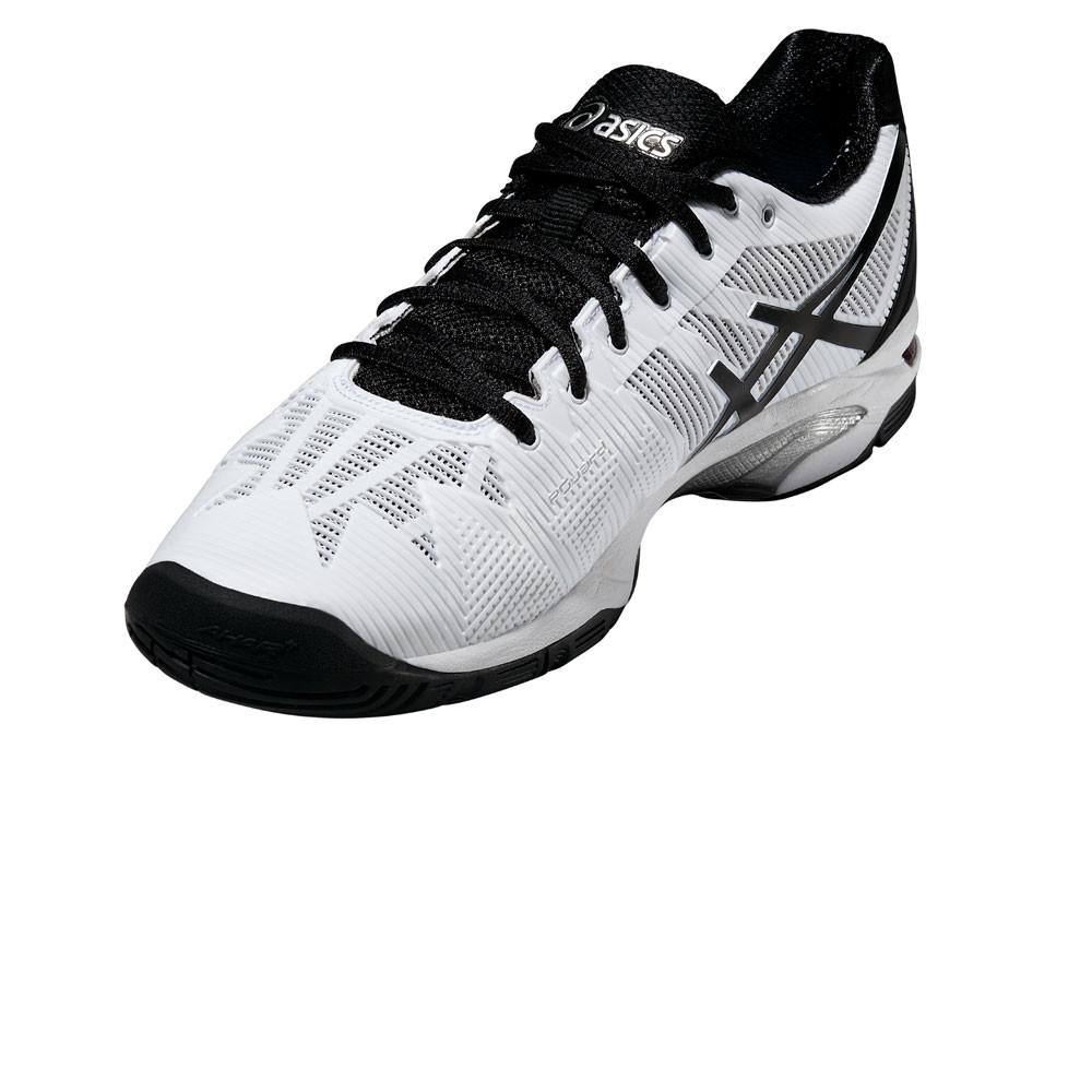 Dettagli su ASICS Gel Solution 3 da uomo bianca Speed Nero Scarpe Da Tennis Scarpe da ginnastica sportive Court mostra il titolo originale