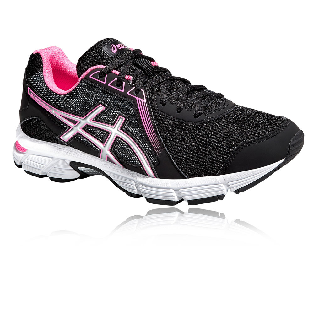 2e60e0681d06 ASICS Gel-Impression 8 Womens Black Cushioned Running Sports Shoes Trainers