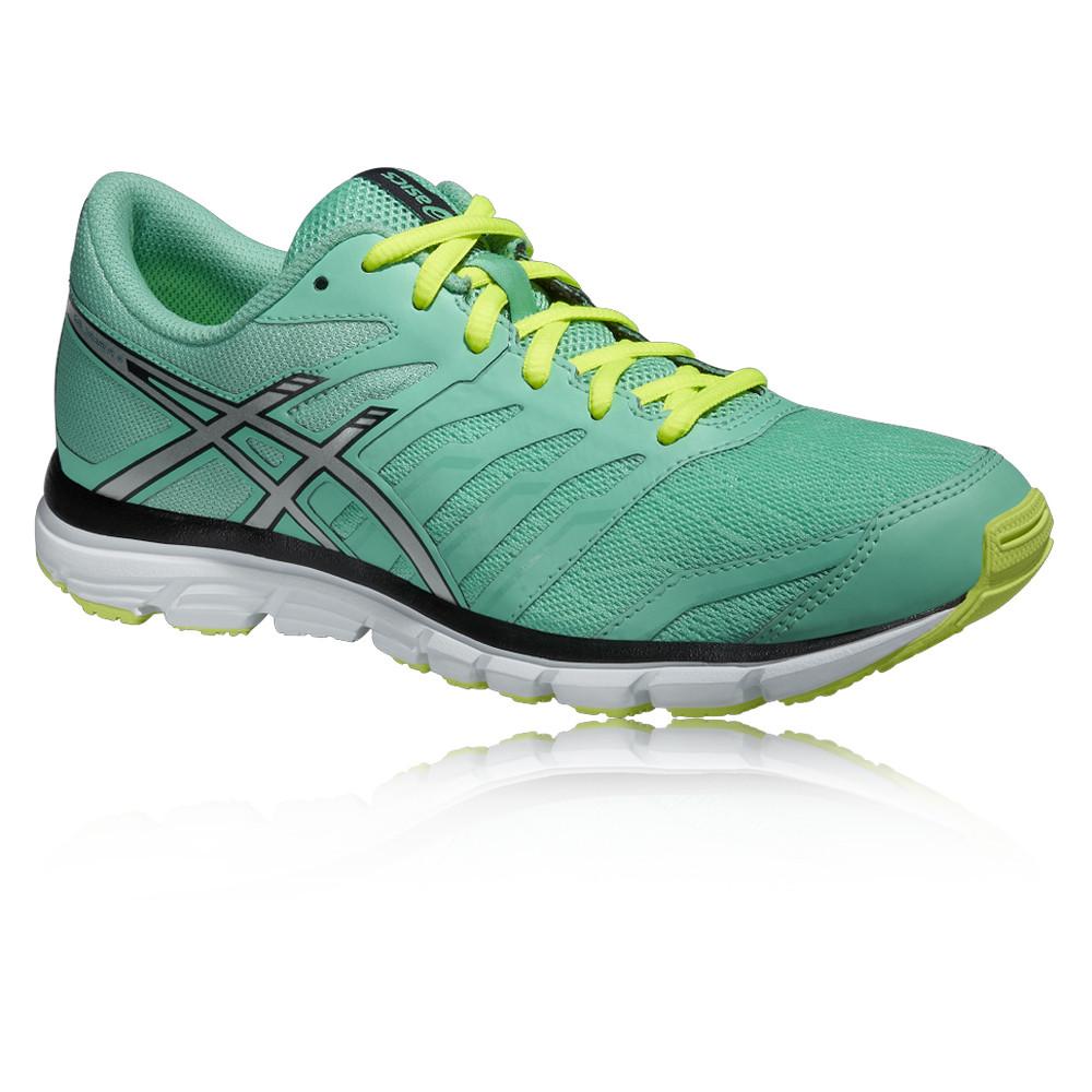 c4f7e18aa52 Asics Gel-Zaraca 4 Mujer Amarillo Verde Acolchado Running Zapatos Zapatillas