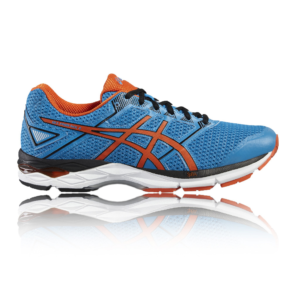 Asics Gel-Phoenix 8 Mens Orange Blue Support Running Road Shoes Trainers