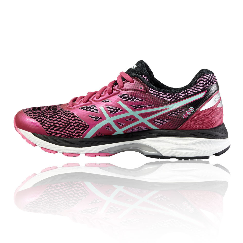f3deb207fc Asics Gel-Cumulus 18 Womens Pink Cushioned Running Sports Shoes Trainers