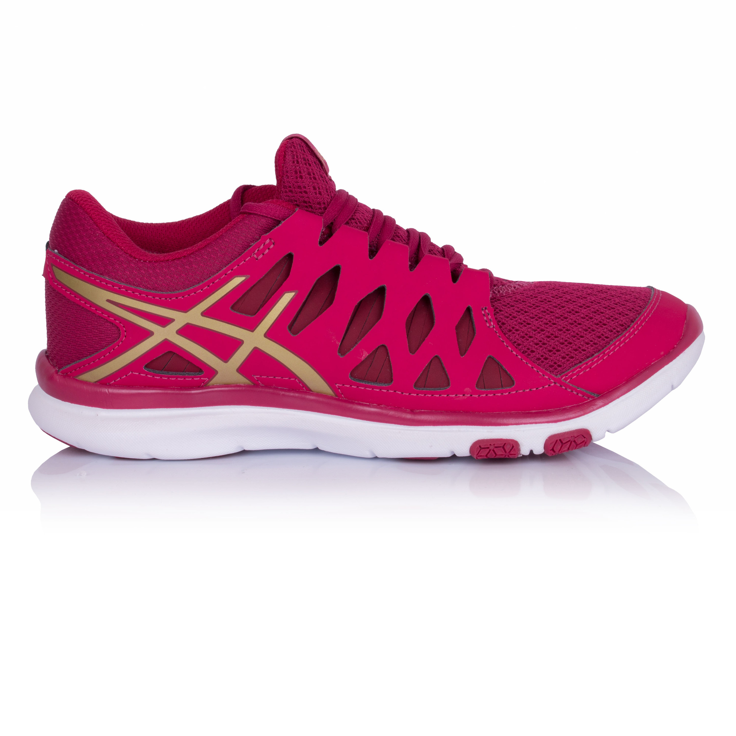 cfade24dbe68 Details about Asics Gel Fit Tempo 2 Womens Red Cross Training Sports Shoes  Trainers Pumps