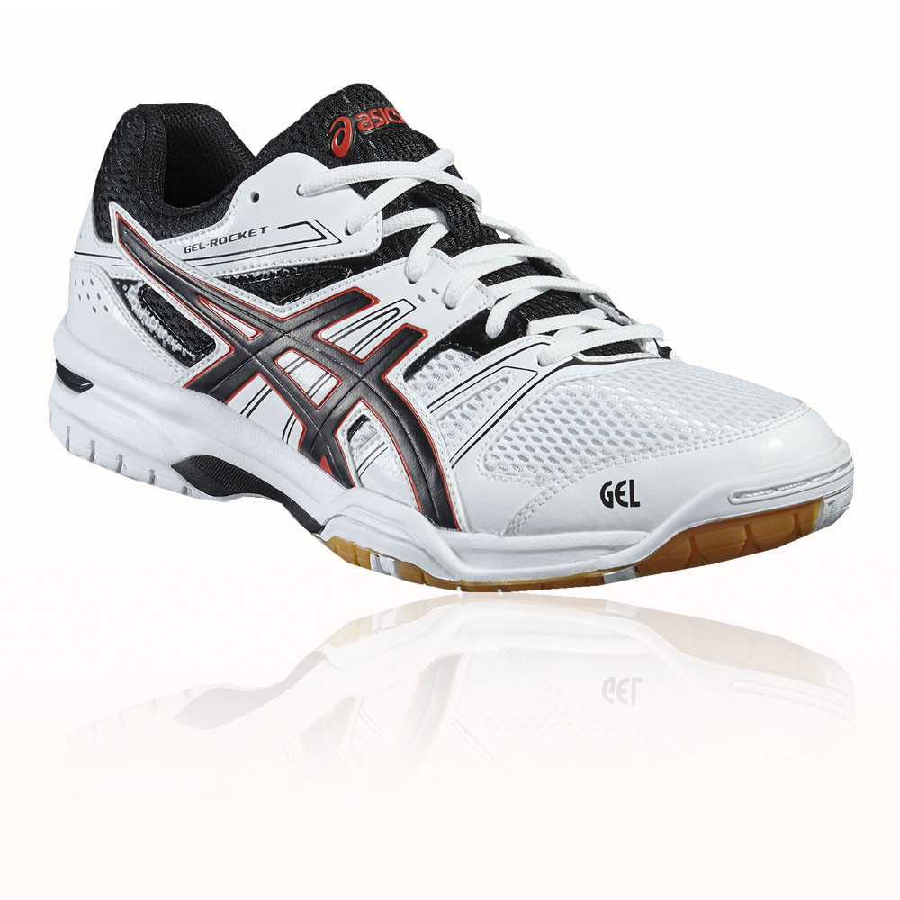 10fca4931f105 Details about Asics Gel-Rocket 7 Mens White Indoor Court Badminton Sports  Shoes Trainers