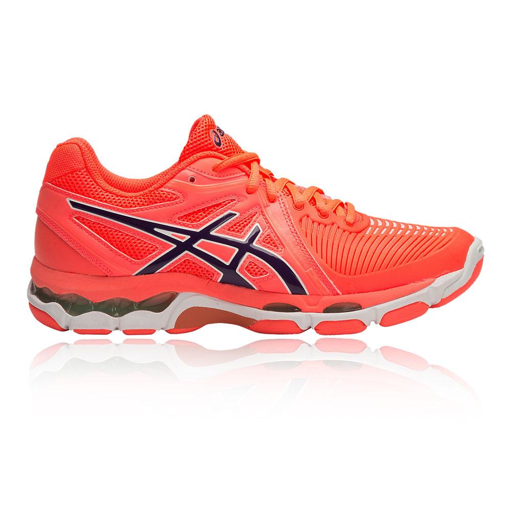 7deae8eb011c Asics Gel-Netburner Ballistic Womens Pink Orange Netball Shoes Trainers