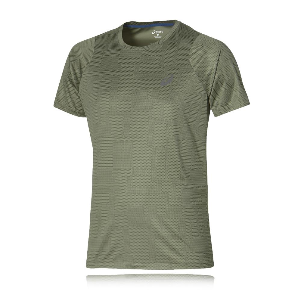 asics fuzex printed running t shirt
