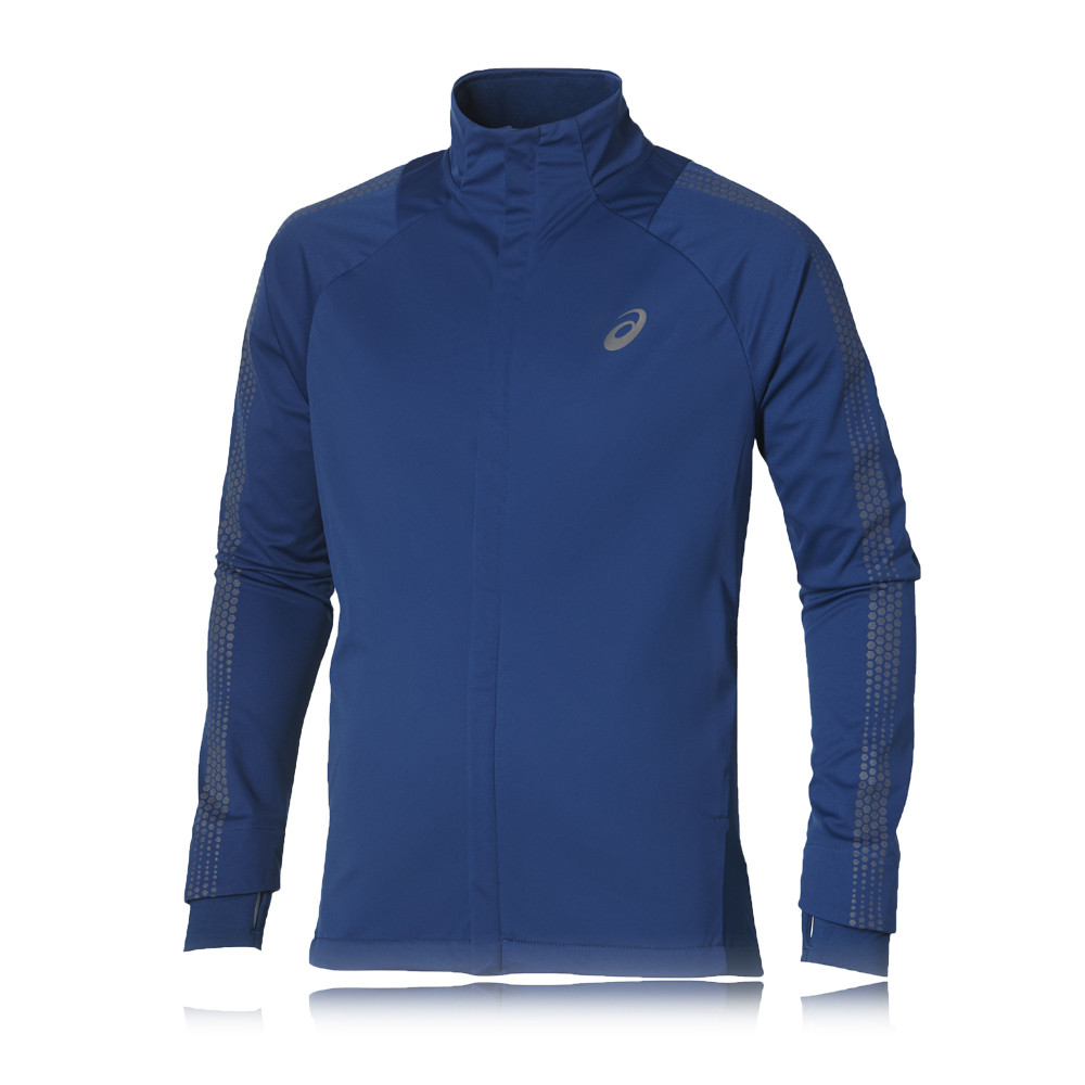 asics running jacket mens Silver