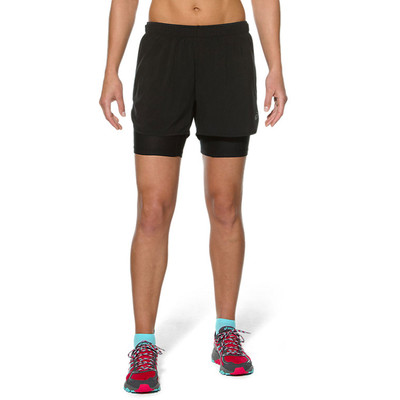 Asics Fujitrail 2-en-1 femmes shorts de course - SS16
