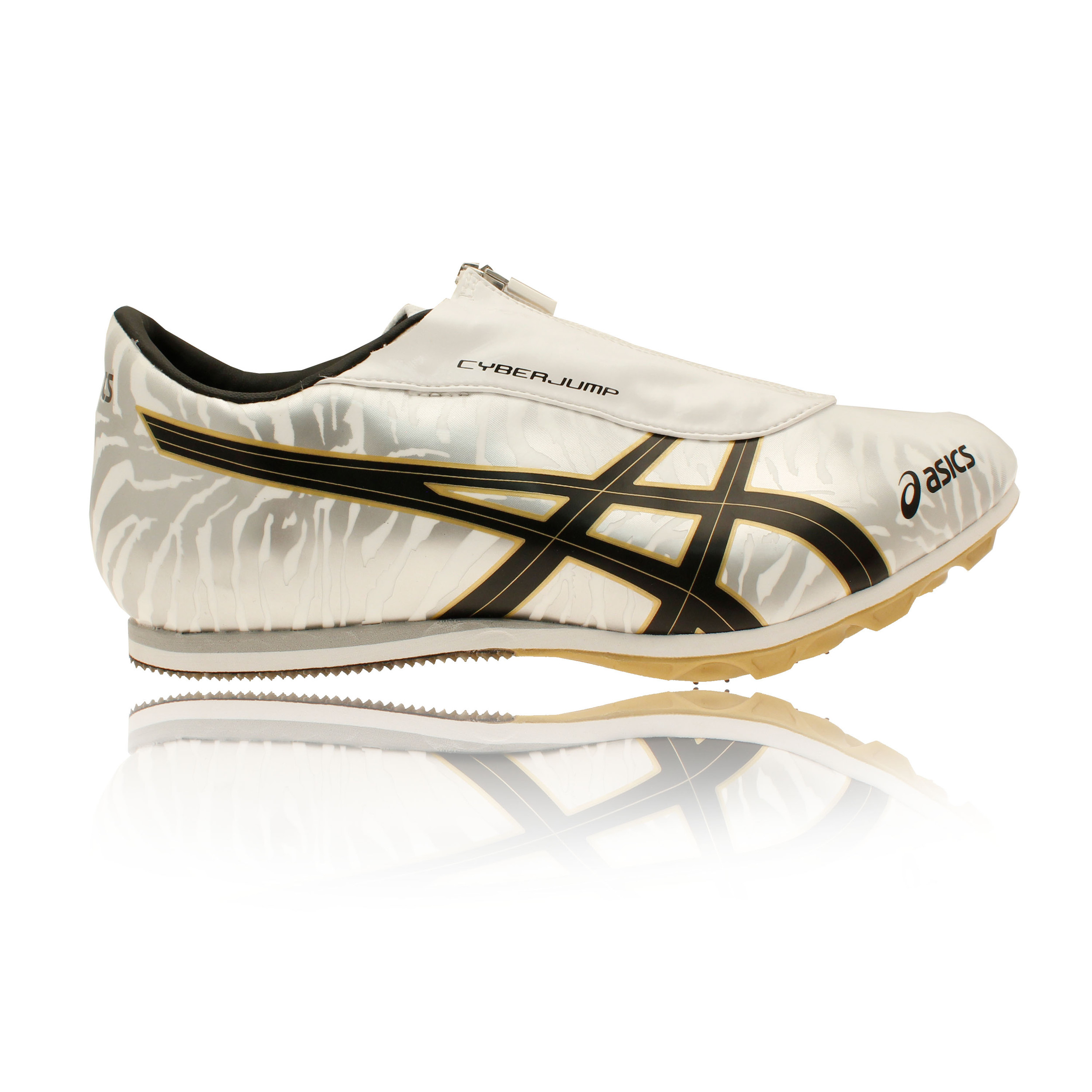 authorized site cheap price designer fashion Details about Asics Cyber Jump London Unisex Yellow Gold Field Shoes Sprint  Spikes Trainers
