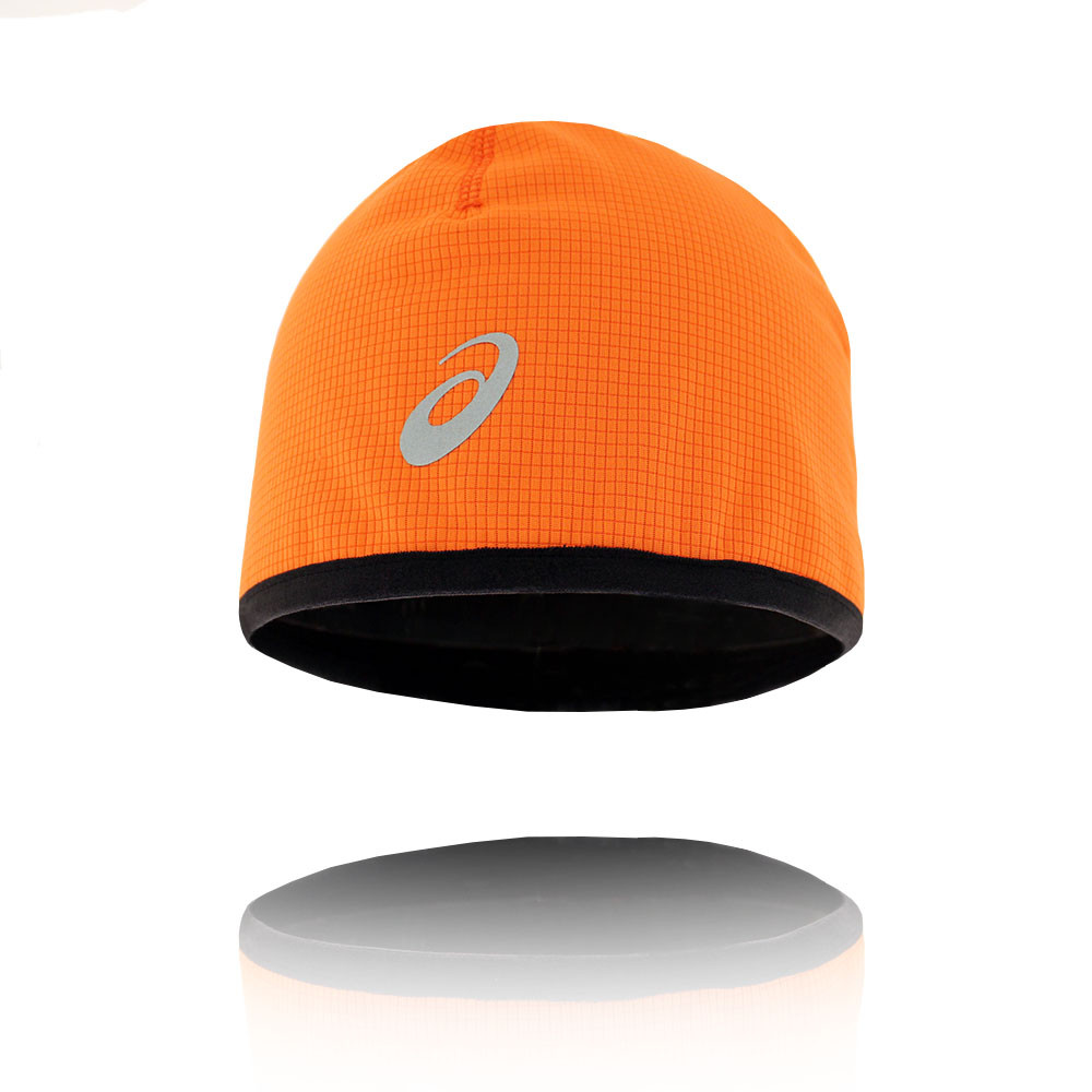 Details about ASICS WINTER Unisex Orange Outdoors Head Wear Running  Training Beanie Hat 182e5434c05