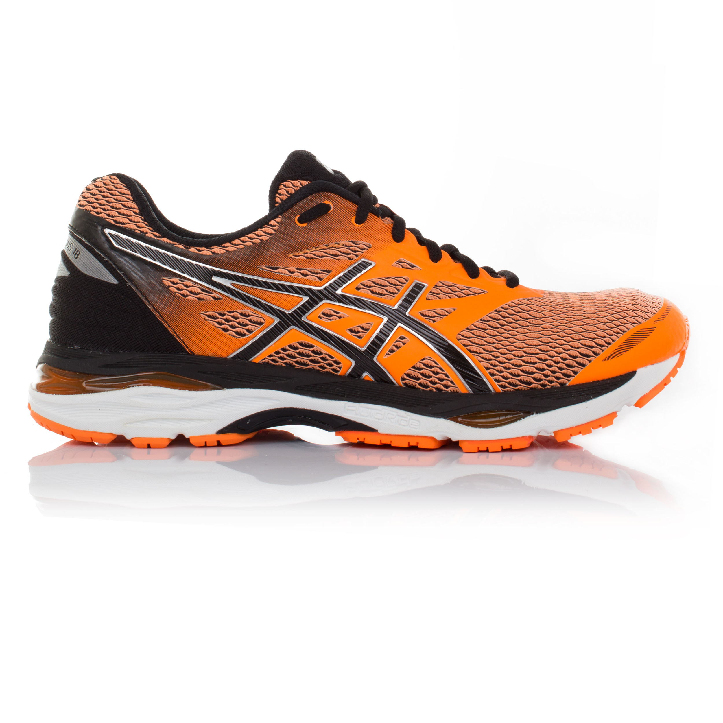 Detalles de Asics Gel Cumulus 18 Hombre Naranja Acolchado Running Camino Zapatos Zapatillas