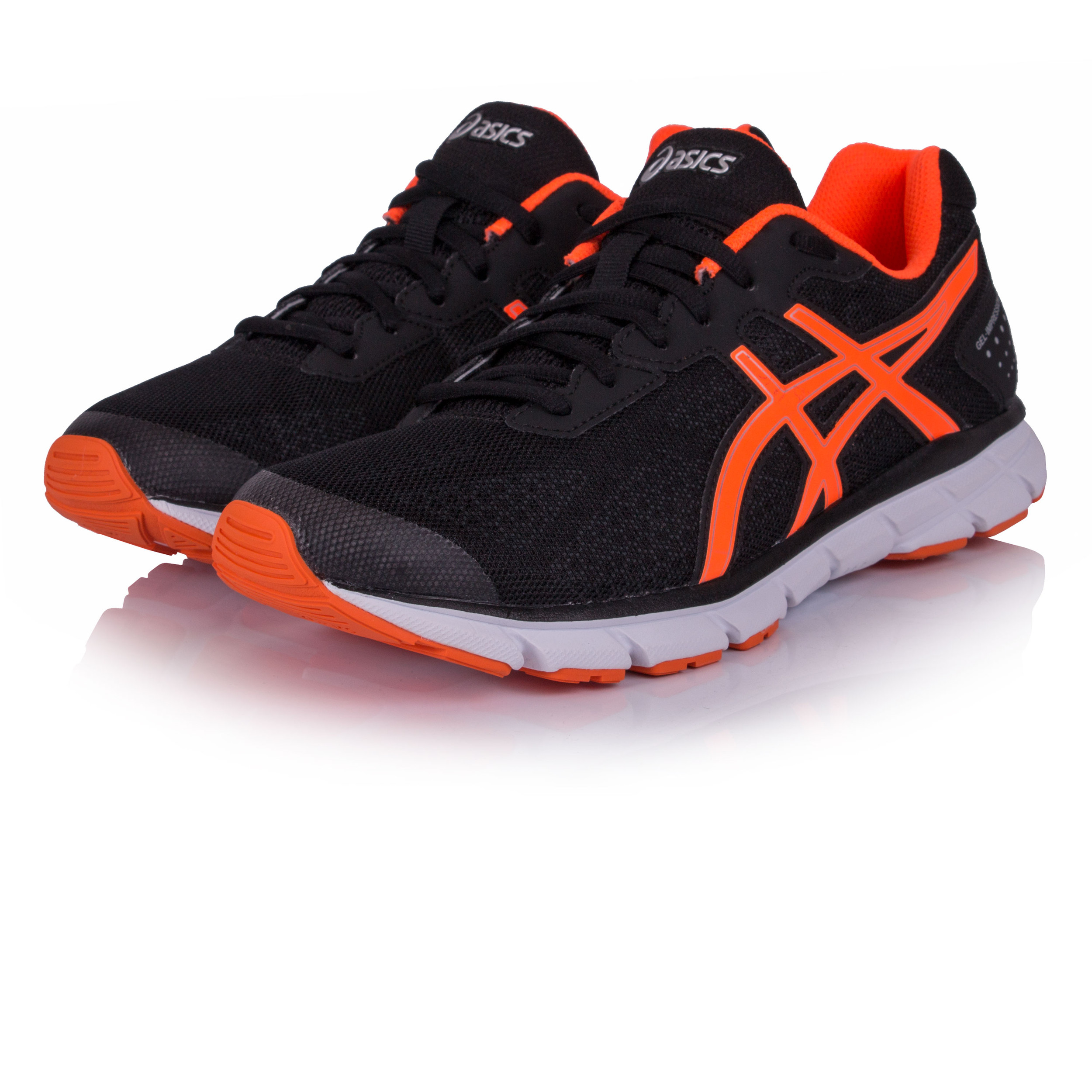 7c55e89c4ef0 Details about Asics Gel Impression 9 Mens Black Cushioned Running Sports  Shoes Trainers