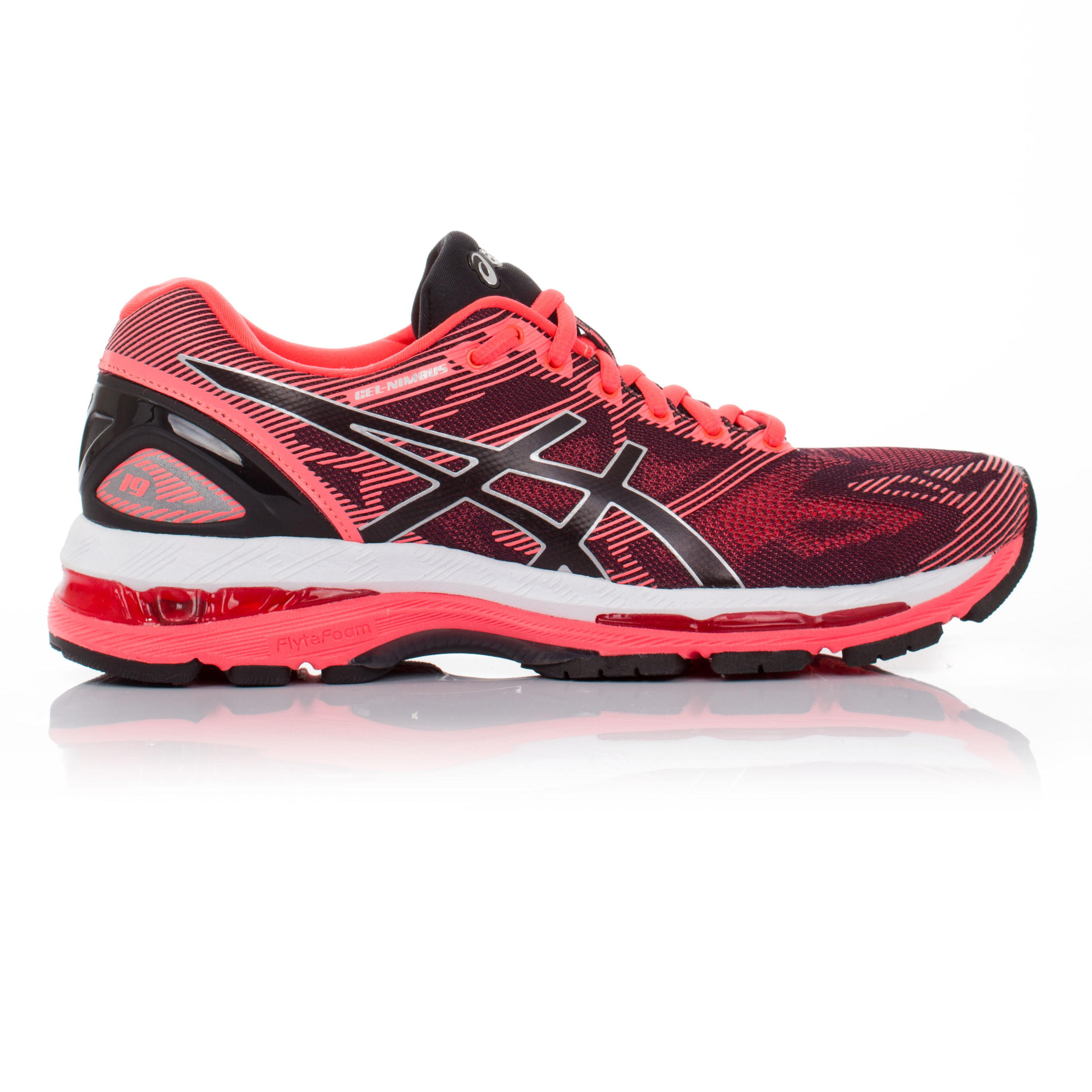 41a5ad828678 Details about Asics Gel Nimbus 19 Womens Pink Cushioned Running Road Shoes  Trainers