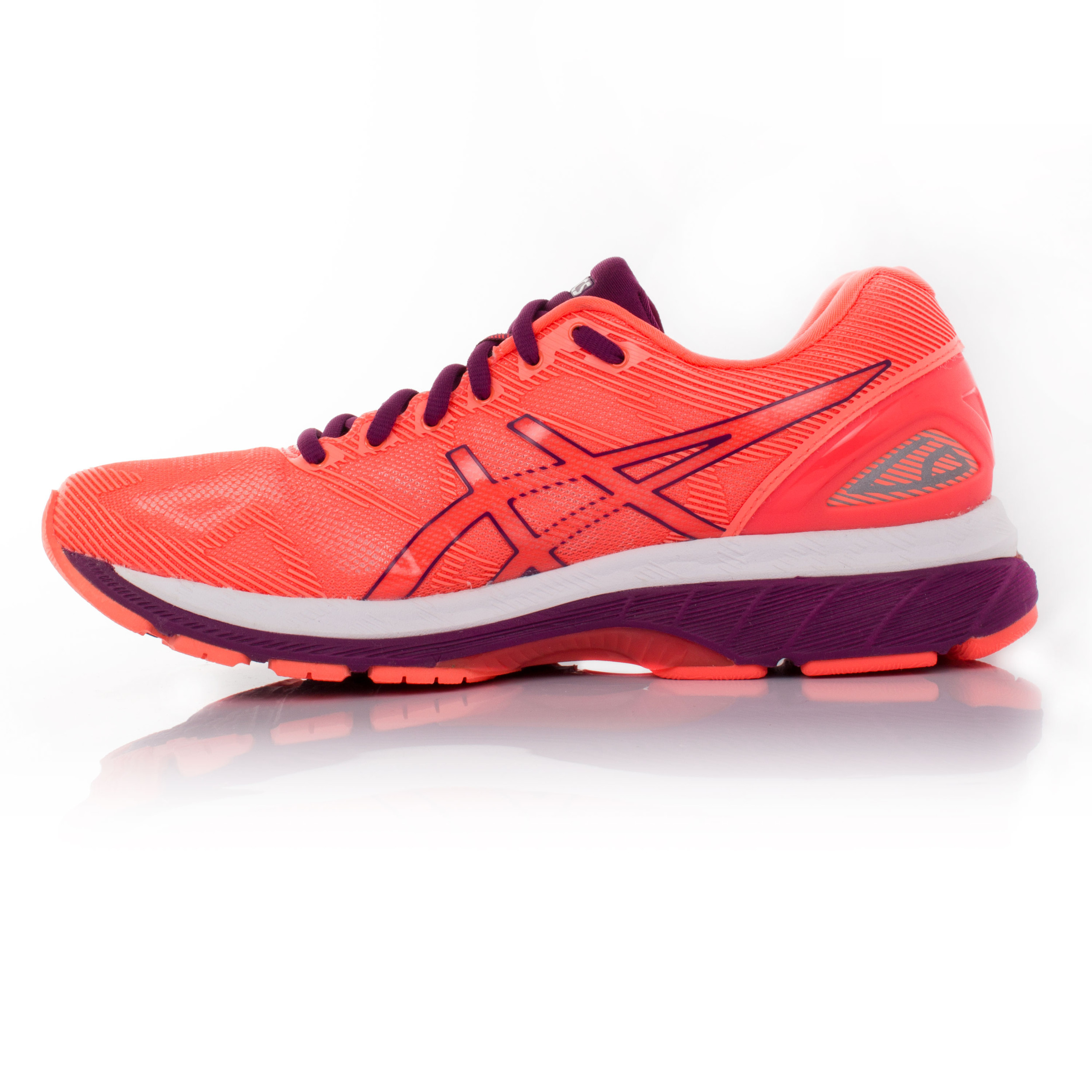 the latest 15829 aa3ba Details about Asics Gel Nimbus 19 Womens Orange Pink Cushioned Running  Fitness Shoes Trainers