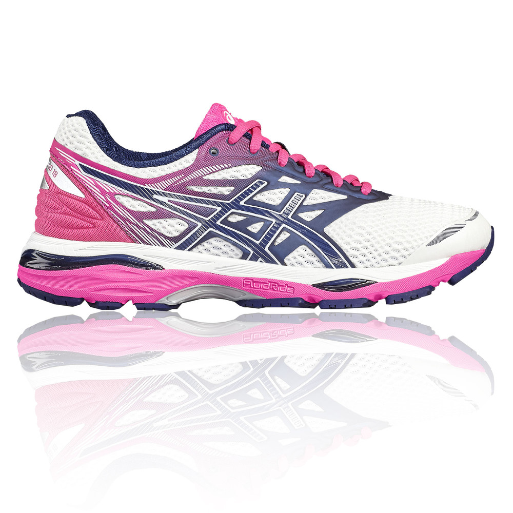 51f3f813d98f Details about Asics Gel Cumulus 18 Womens White Cushioned Running Road Shoes  Trainers