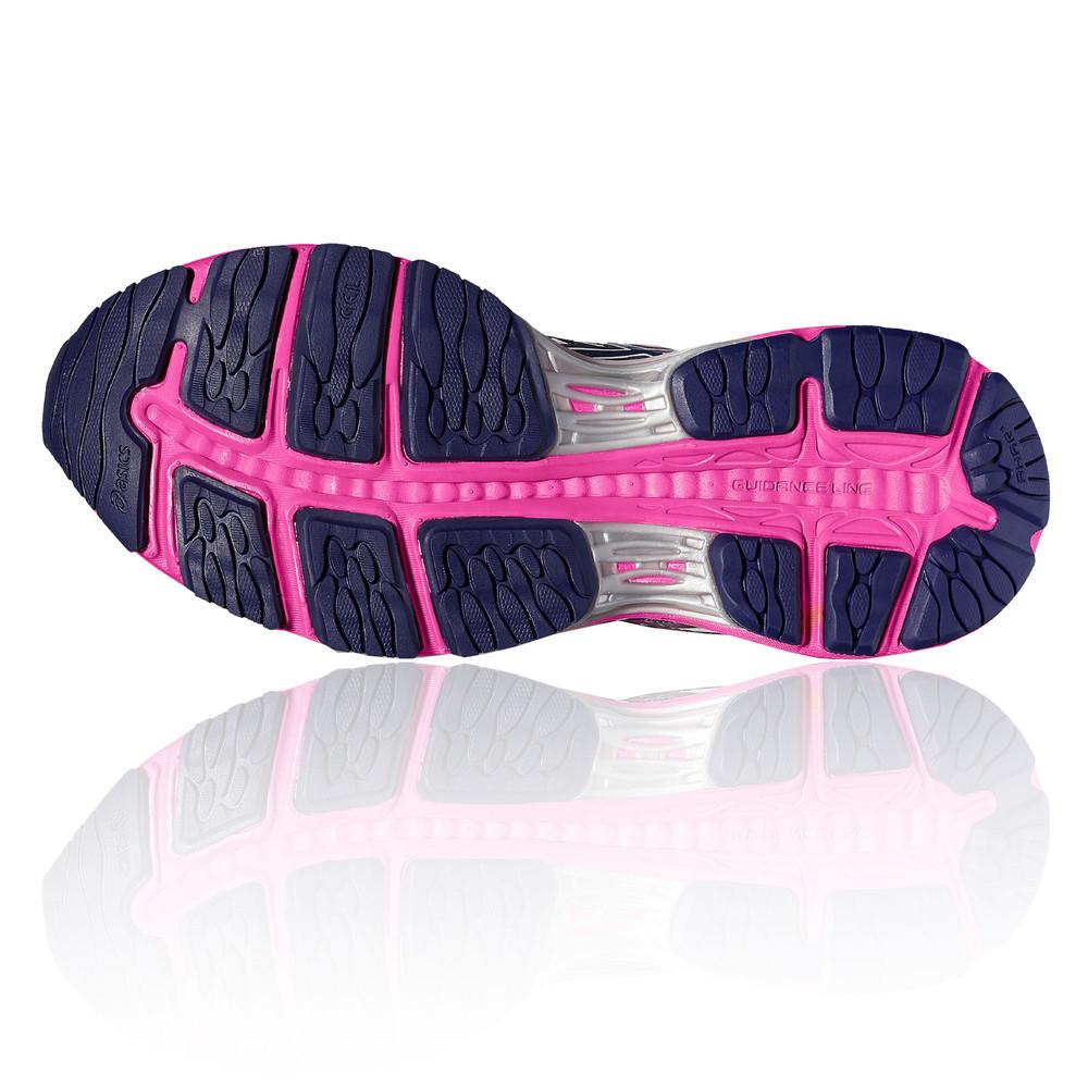 Détails sur Asics Gel Cumulus 18 Femmes Blanc Amorti Chaussures Running Route Baskets