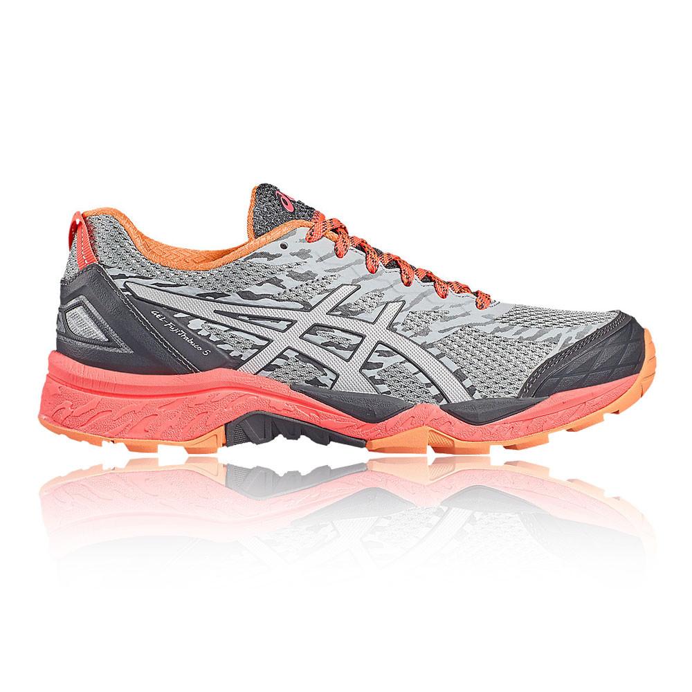 Asics Gel Fujitrabuco 5 Mujeres Gris Zapatillas Deportivas Correr Trail  Running 801feff1d