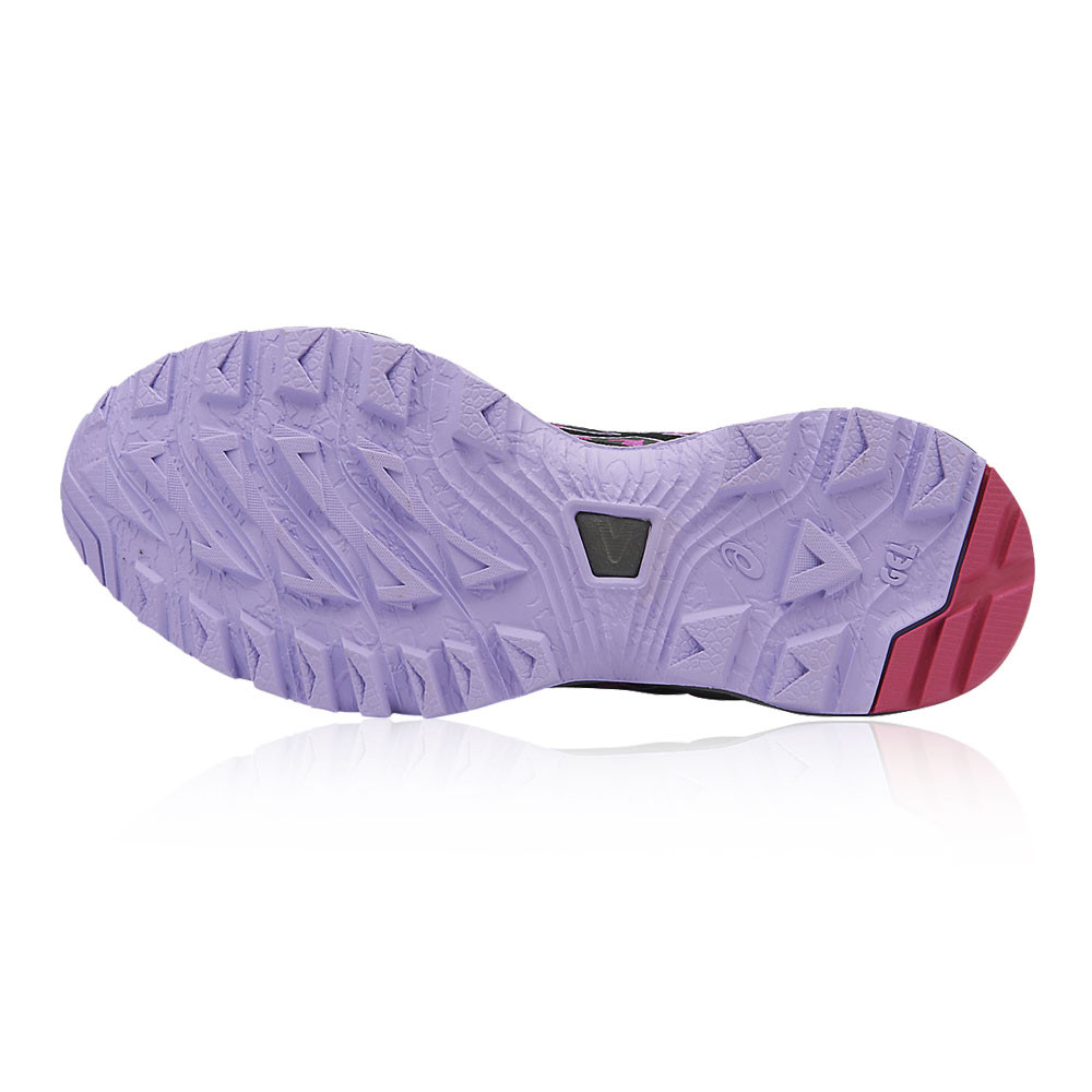 990d4ad7c Asics Mujer Negro Violeta Gel Sonoma 3 Sendero Correr Deporte Zapatos  Zapatillas