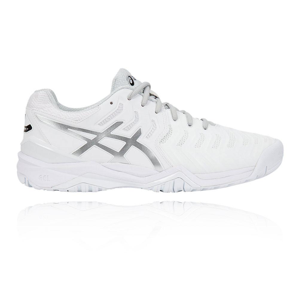 3d6226d6c3c Asics Gel Resolution 7 Hombre Blanco Tenis Deporte Zapatos Zapatillas Correr